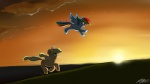 applejack johnjoseco rainbow_dash scenery wallpaper