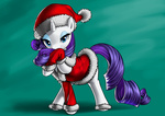 christmas coat forgotten-wings hat highres rarity santa_hat