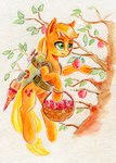 applejack apples basket jetpack maytee traditional_art tree