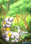 absurdres forest highres tokokami traditional_art trees zecora