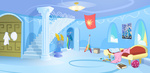 cloudsdale durger highres rainbow_dash_house scenery