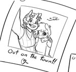 alternate_universe anthro applejack lineart photograph rarijack rarity shipping siden ultimare_universe