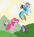 blossom bubbles_(ppg) buttercup crossover evilsugar pinkie_pie rainbow_dash the_powerpuff_girls twilight_sparkle