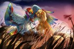 appledash applejack cigarscigarettes rainbow_dash ring shipping tears