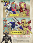 angry crossover fluttershy iron_will medic parody rainbow_dash rarity scout spy stupjam team_fortress_2 violence weapon