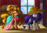 absurdres ailatf applejack dress highres rarity