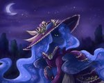 dress hat lunnitavaldez moon nighttime princess_luna