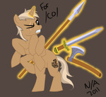 artist_unknown axe crossover mythology ponified sleipnir spear sword weapon