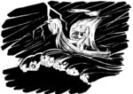 boat highres lightning lineart lyra_heartstrings mcstalins white_on_black