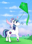 absurdres highres jackiebloom kite magic princess_flurry_heart shining_armor
