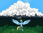 cloud geomancing highres lightning rain rainbow_dash