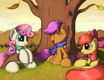 absurdres apple_bloom cutie_mark_crusaders grennadder highres scarf scootaloo sweetie_belle