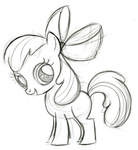 apple_bloom fim_crew lauren_faust production_art sketch