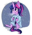 highres silbersternenlicht snow snowing sweater twilight_sparkle winter
