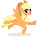 applejack blooddragonx flight_spell highres transparent wings