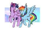 beantoebean princess_twilight rainbow_dash twilight_sparkle