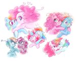 pinkie_pie pinkiedash rainbow_dash shipping slygly