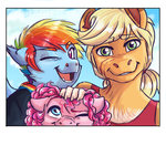 anthro applejack earthsong9405 highres pinkie_pie rainbow_dash
