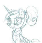 briskby glasses princess_cadance sketch sweater