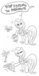apples bucket comic flashinthepan fluttershy huge_jerk lineart meme parasprite