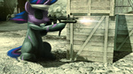 bandage crossover eyepatch future_twilight gun i_shall_not_use_my_hooves_as_hands metal_gear_solid raikoh14 submachinegun twilight_sparkle weapon
