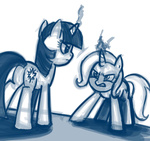 sketch the_great_and_powerful_trixie thex-plotion twilight_sparkle