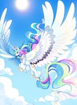 classical_unicorn frogbians highres huge_wings princess_celestia
