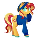 clothes fannytastical hat highres sunset_shimmer