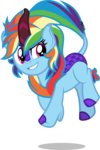 absurdres highres kirin orin331 rainbow_dash species_swap vector