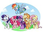 applejack fluttershy main_six mistresslouvely pinkie_pie princess_twilight rainbow_dash rarity twilight_sparkle