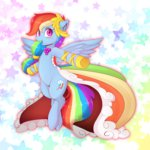 dress gala_dress kanachoco rainbow_dash stars