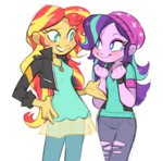 8-xenon-8 equestria_girls humanized starlight_glimmer sunset_shimmer