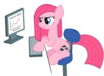 artist_unknown computer pinkamena_diane_pie pinkie_pie rock_farm serious_business