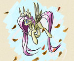 akweer fluttershy highres leaves