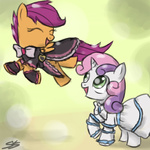 crossover pretty_cure scootaloo speccysy sweetie_belle