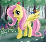 bird flowers fluttershy johnjoseco