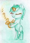 0okami-0ni filly highres lyra_heartstrings lyre magic traditional_art
