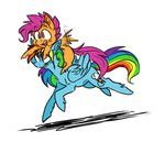 8-xenon-8 pony_ride_the_pony rainbow_dash riding scootaffection scootaloo