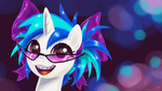 bow braces glasses highres kp-shadowsquirrel portrait sunglasses vinyl_scratch young