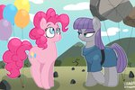 balloon greennpc highres maud_pie pinkie_pie rock