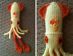 cephalopod mumbles photo plushie species_swap spitfire squid toy yarn