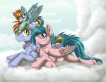 filly firefly inuhoshi-to-darkpen parents rainbow_dad rainbow_dash