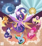 absurdres applejack fluttershy gravityfying highres main_six pinkie_pie princess_twilight rainbow_dash rarity twilight_sparkle