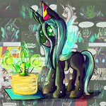 absurdres birthday cake candle filly highres queen_chrysalis ryuredwings