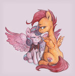 highres jewellier princess_flurry_heart scootaloo traditional_art