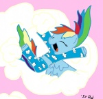 highres pajamas rainbow_dash sir_radical