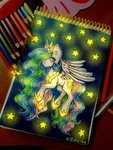 princess_celestia stars traditional_art zefir-ka