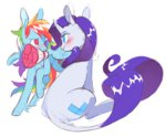 8-xenon-8 flowers highres rainbow_dash raridash rarity shipping