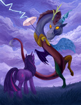 discord dragonataxia highres twilight_sparkle