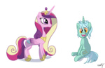 lyra_heartstrings princess_cadance transparent westy543